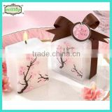 Hot sell sukura printing candle giveaways for weddings