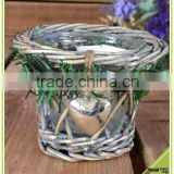 handmade candle hoder inside glass home decoration