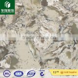 Special pattern white color artificial quartz stone countertop table top vanity top