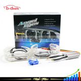 White & Yellow turning signal led halo rings flat bottom crystal angel eyes e90 e92 f30
