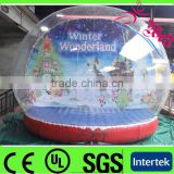 PVC inflatable christmas snow globe, TPU Air Show Dome for Christmas, Colorful Christmas inflatables