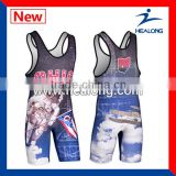 2014 Wholesale sublimated wrestling uniform