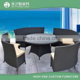 Home and Garden 4 Seaters Rattan Round Dinning Table and Chair Set Outdoor Dinning Furniture