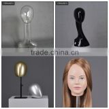 clear transparent plastic makeup female cheap hair mannequin head with shoulders for wig