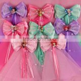 princess New lot Girls Baby Large strip Hair Bow Clip flower hairpin