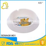 Hot Selling high quality portable black plastic melamine ashtray                                                                         Quality Choice