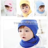Hot-sales Baby cotton crochet Beanie hat and scarf set Infant crochet knitted toddlers New Children cute crochet baby hat FH-200