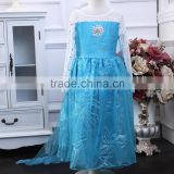 Realistic little girl frozen dress for halloween costume wholesale kids princess dress (Ulik-A0132)