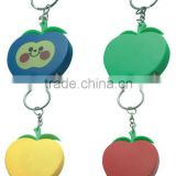 1M apple shaped tape measure keychain