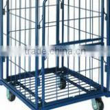 roll container with wire mesh