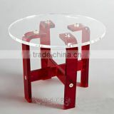 high quality clear acrylic table leg acrylic furniture for dining table