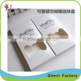 folding paper box with PVC window