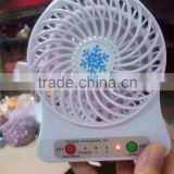 portable mini fan with 1200W battery and USB connector