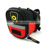 2015 latest design red color portable waterproof cell phone bag bicycle saddle bag for adults