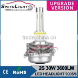 Speedlight New Version 30W 3600LM 2S LED Headlight 12V Car LED Lights
