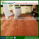 Garden plastic composite decking floor made of eco-friendly WPC material factory directly