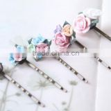 newest fake flowers bun hair pins hair clip