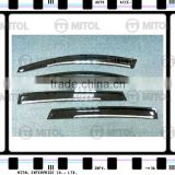 For Toyota RAV4 13-on Car Windows Visor w/ chrome Trim, Wind deflector