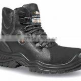 High safety black leather Antistatic boots certificated EN ISO 20345:2011,Arc Flash Accessories