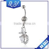 Bridal Jewelry Zircon Hanging Belly Button Rings Factory Dierct Sale