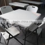 Square shape blow moulded foldable table,blow moulded furniture,plastic folding table