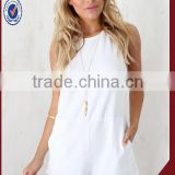 2015 Montpellier White Onesie jumpsuit shorts adult short jumpsuit                                                                         Quality Choice