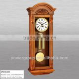Solid wood wall clocks White&Golden dial Rotating pendulum and melody music High quality MW3648R