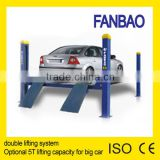 four post hydraulic car lift garage equipment car hoist