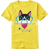 custom logo design t shirt lovely animals cat pattern cotton club t shirt for men promotion t shirt with high quality