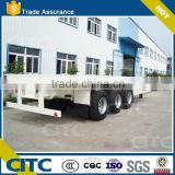 2015Top Ranking China 20ft and 40ft 3 axles Flatbed Container Semitrailer with used truck trailer price