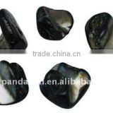 Freshwater Shell Beads, Dyed, Black, about 10~20x12~18x5~9mm, hole: 1mm, about 320pcs/500g(BSHE-S028-4)