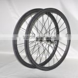 DENGFU 700c carbon wheelset 38mm clincher wheels 25mm width rim with black Powerway R13 hubs