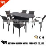 rattan chairs and tables italian classic style dining room set,modern lobby hobby furniture                                                                         Quality Choice