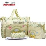 2016Hot sale lovely Aardman Fashion Durable nappy mummy bag print maternity handbag diaper bags baby tote HY-005