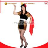 new design cospaly plus size carnival costume sexy spanish dance dress costume for women