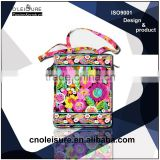 Fancy Cotton fabric Handbags flower printing handbag computer bag fashion handbag Bohemian style