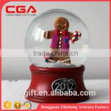 Christmas gift Christmas crafts crystal glass ball 2016 popular design wholesele water ball