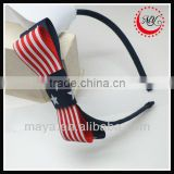 Lovely baby girls hair band America flag hair band(approved by BV)