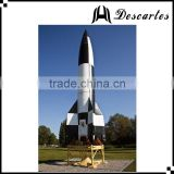 8m height large inflatable helium rocket ,inflatable replica helium missile for sale