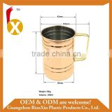 Factory outlet copper plated stainless steel beer mug