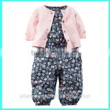 Top quality romper clothing baby girl jumpsuit with Cardigan soft cotton baby romper                                                                         Quality Choice