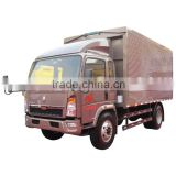 high quality famous brand sinotruk howo cargo truck 4x2 small food van truck low price exporting sale