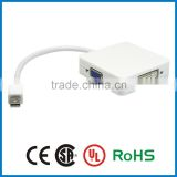 APBG high quality mini displayport male to hdmi dvi vga female mini dp displayport to hdmi dvi vga 3 in 1 for macbook