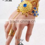 Wholesale Belly Dancing Accessory Bracelets With Ring for Girls stage performance (T014)