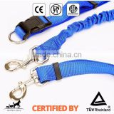 Custom Print Logo Hands Free Bungee Dog Running Leash blue