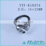 Wholesale 925 sterling silver ring base with zircon 2016 best gift for friends DIY blank silver ring