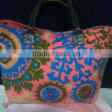 Wholesale lot Indian Suzanni embroidery Shopping Bag Tote Handbag