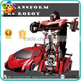 Christmas Gift one key control trans robot toy rc drift car toys for sale