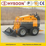 China multifunction diesel engine mini skid steer loader HY40, electric power optional