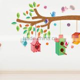 birds' home tree 120*100cm Room Vinyl Decal Art DIY Home Decor Wall Sticker Removable The Real Sticker JM7222